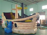 New Arrival Full Colors Printing Inflatable Pirate Boat for Sale