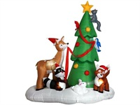 Small Deer Family Backyard Christmas Inflatable Decoration Prop
