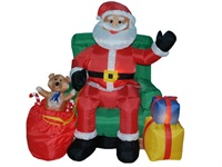 Goods Christmas Inflatables Animated Santa on Chair