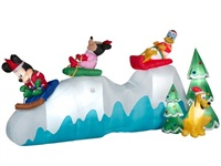 Gemmy Airblown Christmas Inflatables Disney Sledding Scene
