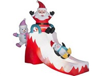 Christmas Inflatable Decoration Santa Clause and His Friends Playing on the Slide