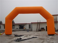 Standard Full Orange Inflatable Round Arch for Rentals