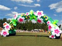 Advertising Inflatable Arch Model With Flowers