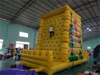 New Style Yellow Color Jungle Inflatable Rock Climbing Wall for Sale