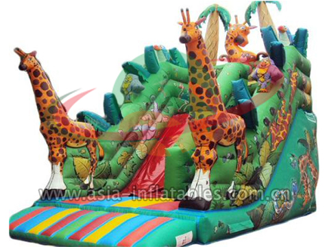 Big Inflatable African Giraffe Slide Item No.: LY Slide 011. Standard Size:  7*5*4M Material: 18 Oz 0.55 Mm PVC Coated Tarpaulin, Lead Free And Fire ...