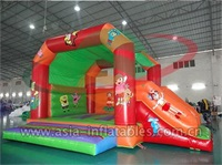 Inflatable Cartoon Bouncer With Slide