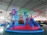 Princess Inflatable Moonwalk And Water Slide Combo