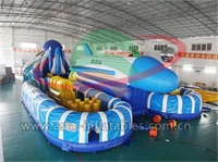 Giant Inflatable Blue Space Ship Amusement Park For Event