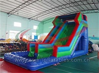 Fun Inflatable Water Slide With Pool Comob