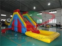 Inflatable Back Load Water Slide With Pool