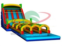 Triple Lane Inflatable Wide Water Slide