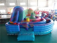 Giant Inflatable Slide With Toddler Yard