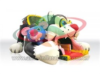 Inflatable Cat And Mouse Cartoon Slide