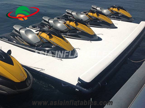 Floating Jet Ski Platform, Inflatable Seabob Dock, Water Platform for Yacht