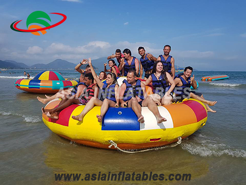 Inflatable towable boat toys, inflatable disco boat for adults and kids