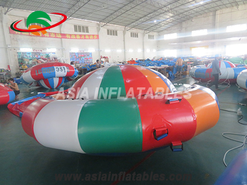 Customized Towable Inflatable Disco Boat Water Games For Sea Lake