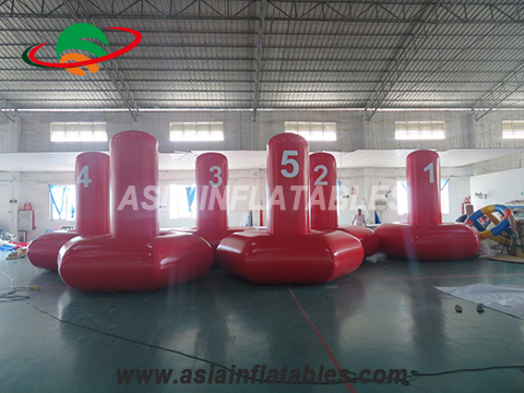 Custom shape inflatable buoy, buoy with customized logo, water floating buoy