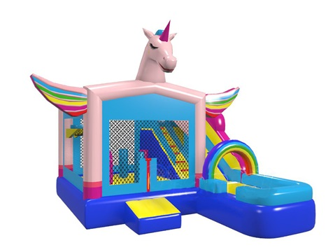 Inflatable Unicorn Bouncer House Sparkling Inflatable Bouncer