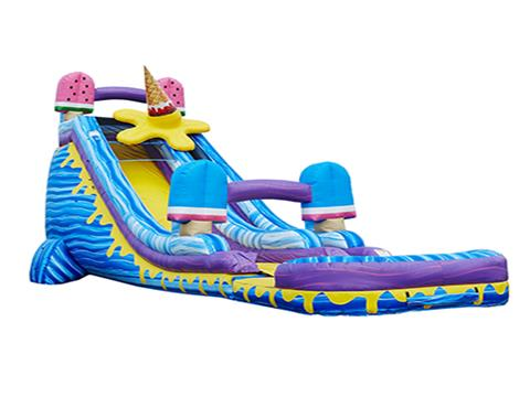 Inflatable 27′ ICE POPS WET/DRY SLIDE