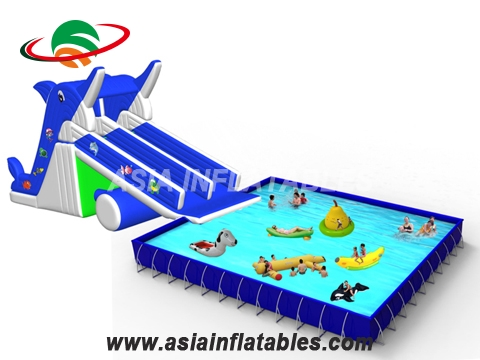 Movable 52mL Slide with Frame Pool Park For Promotion