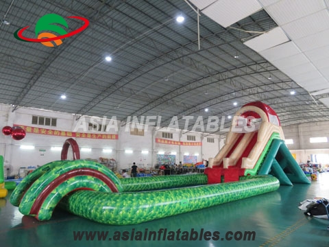 2017 Hot Sales Amusing Inflatable Water Park with Pirate Ship Water Slide