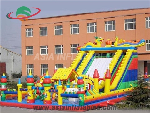 Inflatable Giant Dragon Dry Slide for Cheap Sale