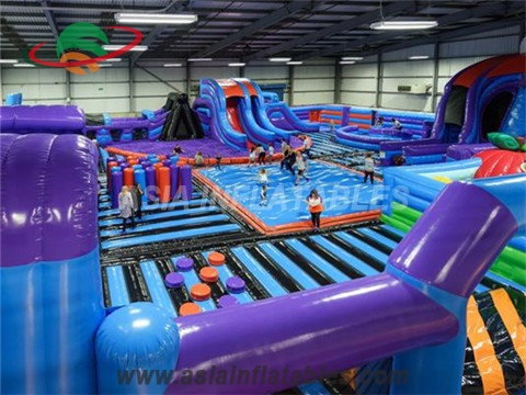 Extreme Inflatable Trampoline Obstacles Amusement Park
