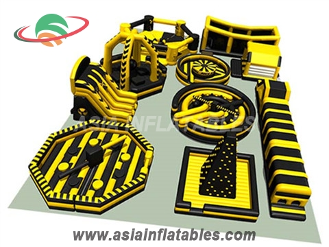 Giant Inflatable Theme Park Golden Combo For  Adult Challenge