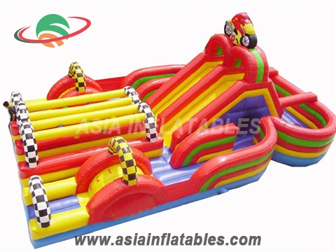 Inflatable Car Slide with Obstacle Course/Inflatable Car Fun City