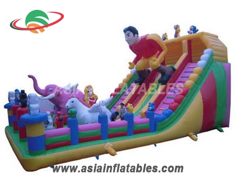Inflatable Human Racing Small Slide with Fun City