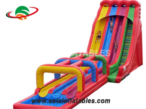 Colorful Inflatable Triple Water Slide Combo
